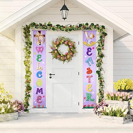 Dekoration Ostern.Ostern Dekoration Set Ostern Veranda Zeichen Welcome Happy