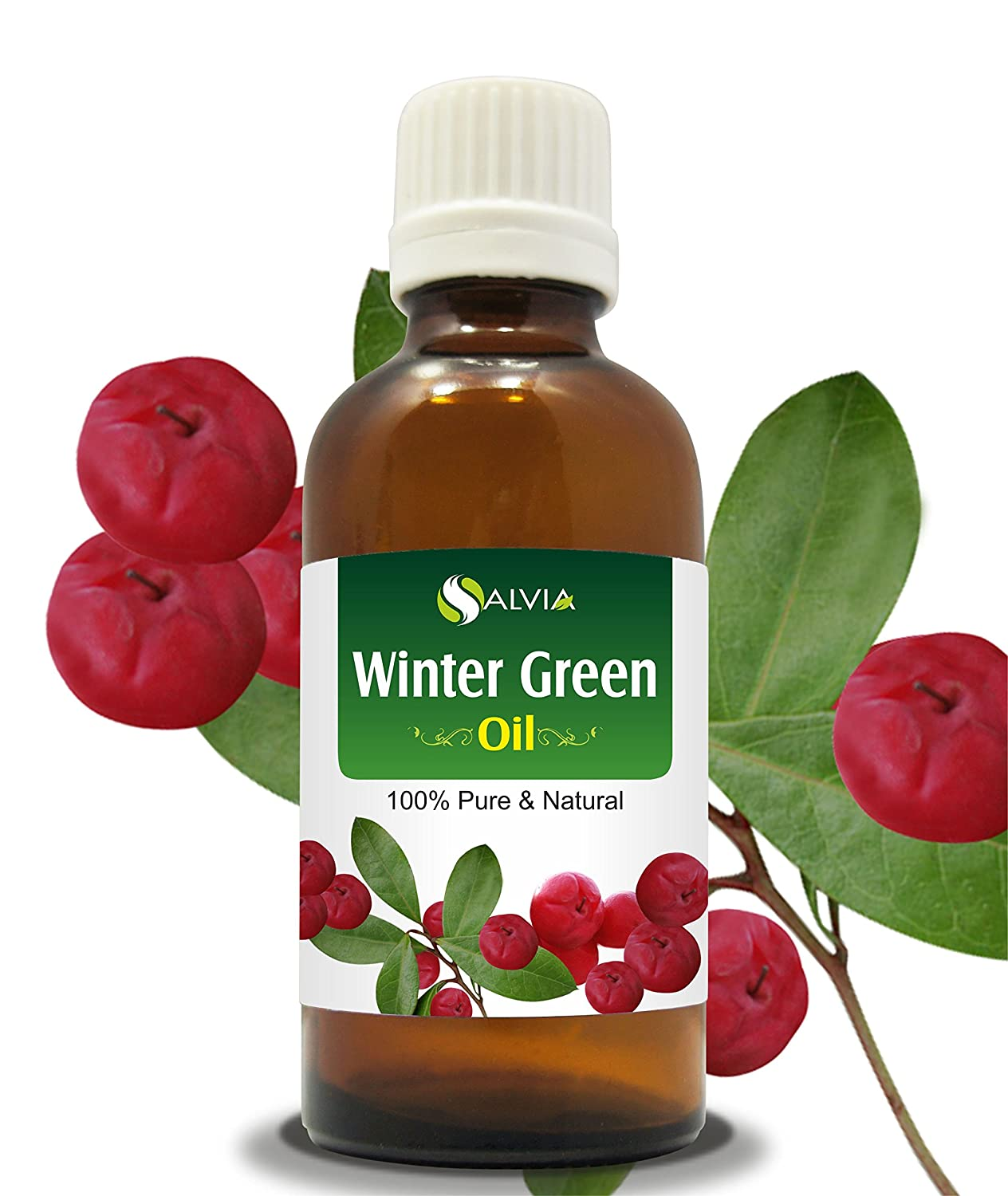 WINTER GREEN OIL 100% NATURAL PURE UNDILUTED UNCUT ESSENTIAL OIL 15ML Salvia