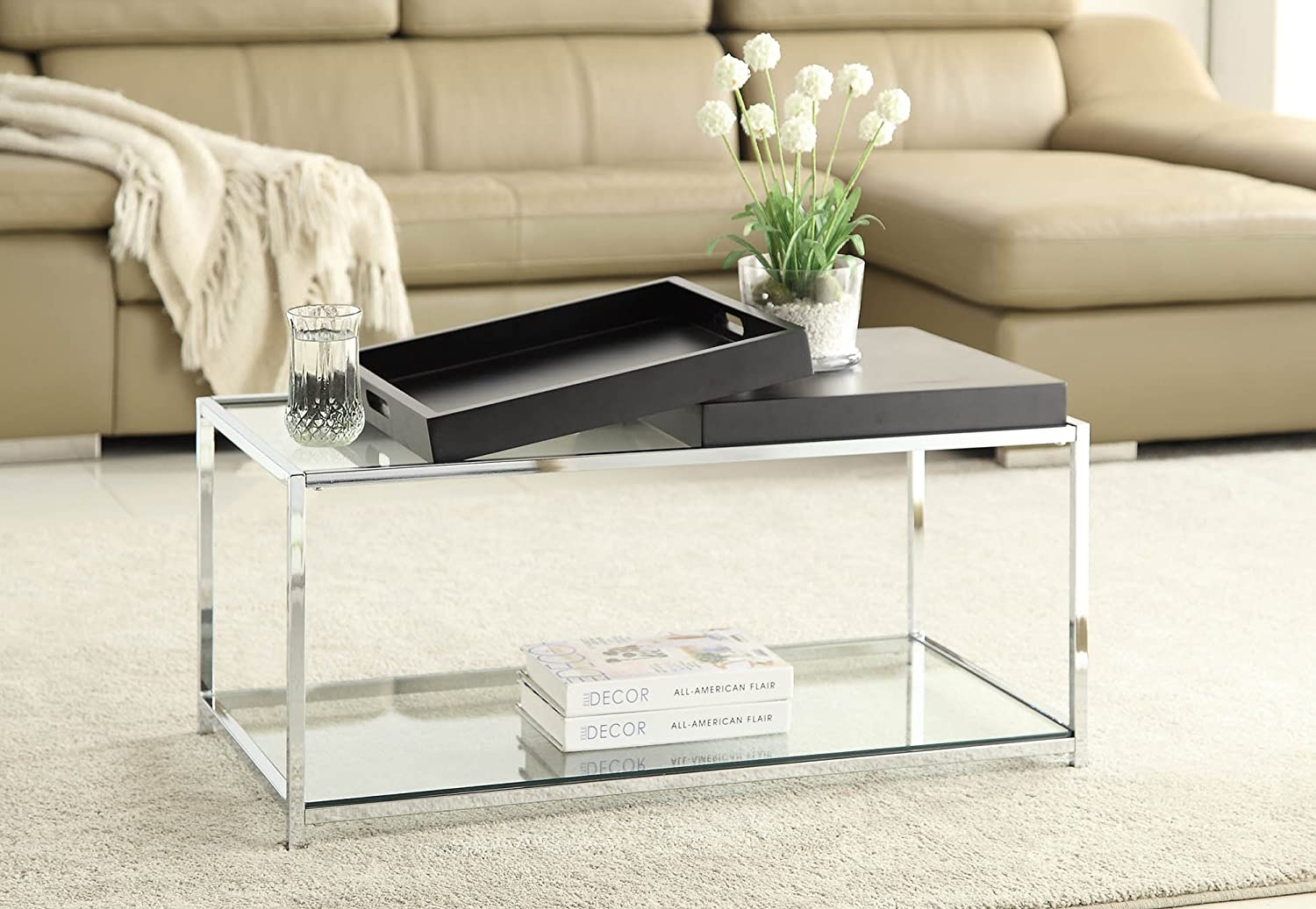 Convenience Concepts Palm Beach Coffee Table, Black: Amazon.ca: Home U0026  Kitchen