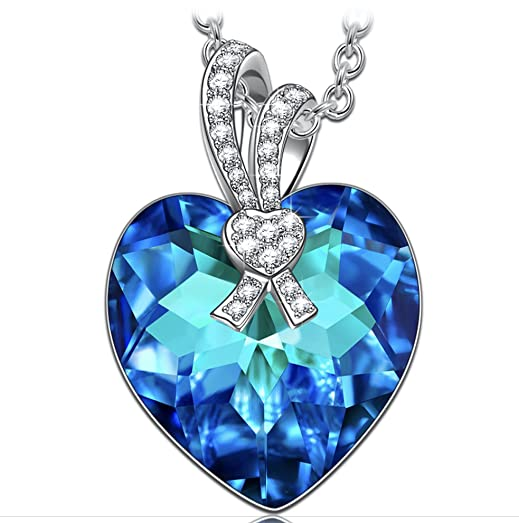 KATE LYNN On the Wings of Love Necklace for Women Girls Pendant Heart Wings Rose Crystals from SWAROVSKI Kgrd5446