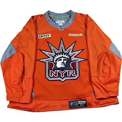Image Unavailable. Image not available for. Color  New York Rangers Orange  Used Lady Liberty Logo Practice Jersey ... 33ee4307ef5