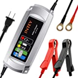 INTEY 6v/12v 5A Smart Battery Charger, Portable Trickle Battery Charger for Vehicle, Truck, Motorcycle, Tractor and Boat