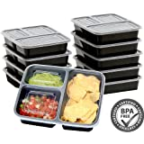 Amazon Price History for:10 Pack - SimpleHouseware 3 Compartment Reusable Food Grade Meal Prep Storage Container Boxes (36 ounces)