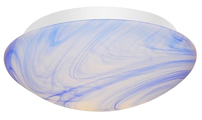 Plafoniere Blu : Velamp ptled w bal plafoniera tonda cover in alabastro blu