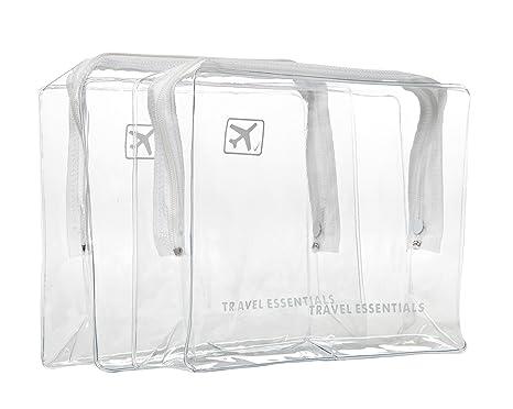2 neceseres transparentes con cremallera para viajes en ...