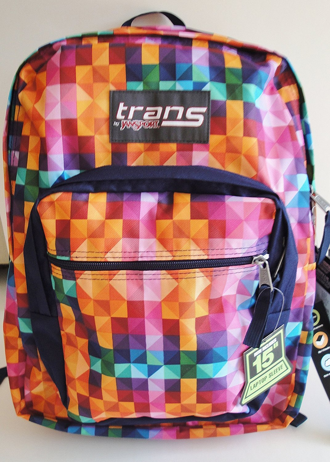 cc6995277ec Trans by Jansport Supermax Multi Spectrum Multi Color Backpack durable  modeling