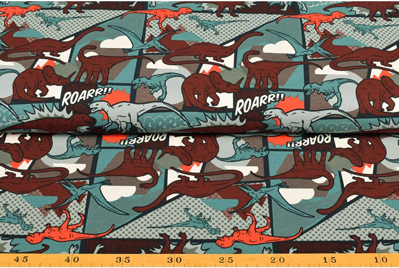Tela de Punto de Jersey de algod/ón para ni/ños VmG-Store 25 x 150cm Camouflage Braun 150 cm de Ancho
