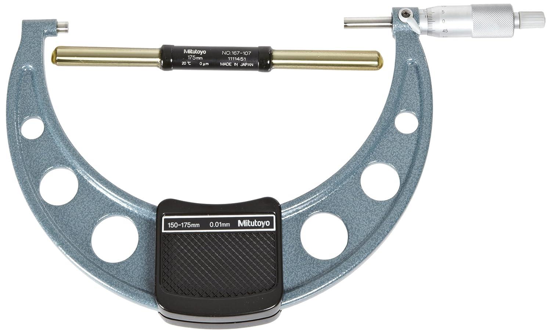 Mitutoyo 103-114 1-2 No Stop//Lock//Stan Mti Outside Micrometer