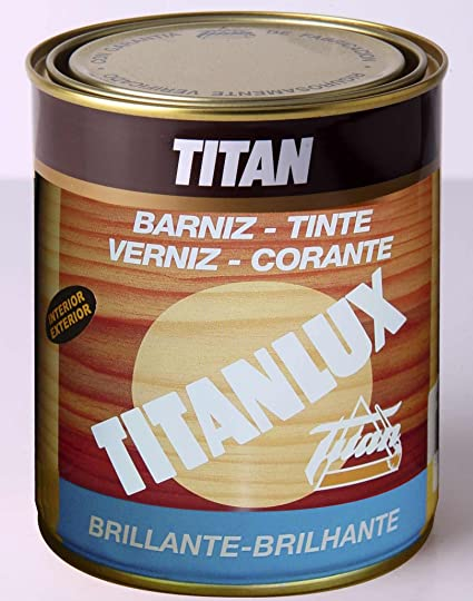 Titanlux M41902 - Barniz tinte brillante para madera 125ml castaño 1001