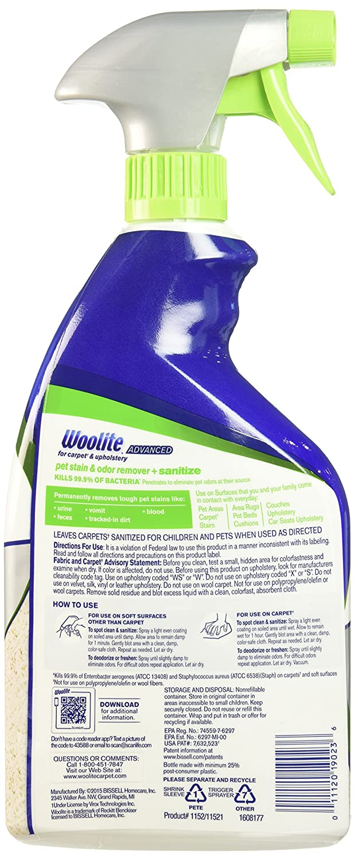 Woolite Advanced Pet Stain & Odor Remover + Sanitize, 11521 (22fl oz)