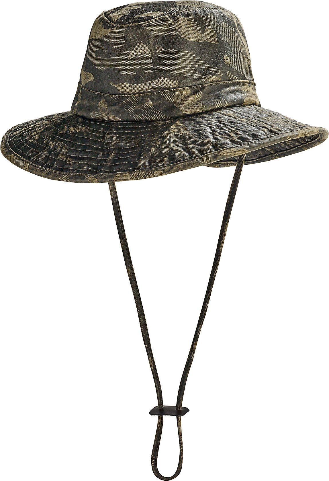 Coolibar UPF 50+ Kids' Outback Boonie Sun Hat - Sun Protective (Small/Medium- Camo)