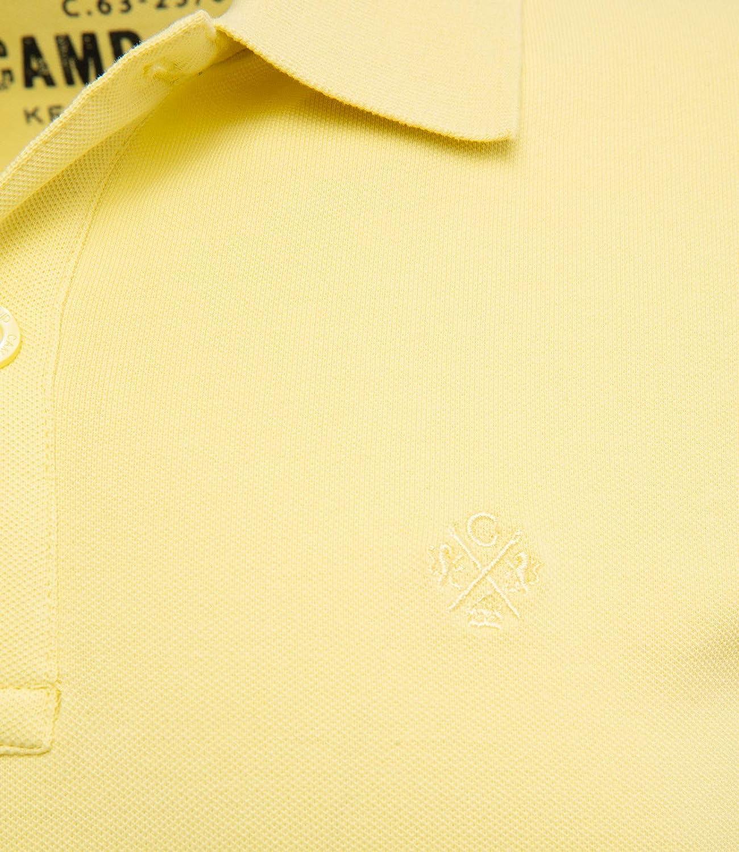 Camp David Herren Basic Poloshirt Piquee mit Trikotkragen
