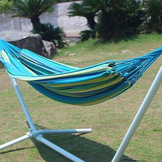 amazoncom adeco navalstyle cotton fabric canvas hammock tree hanging suspen hammock tree hanging suspended outdoor indoor bed oasis blue color