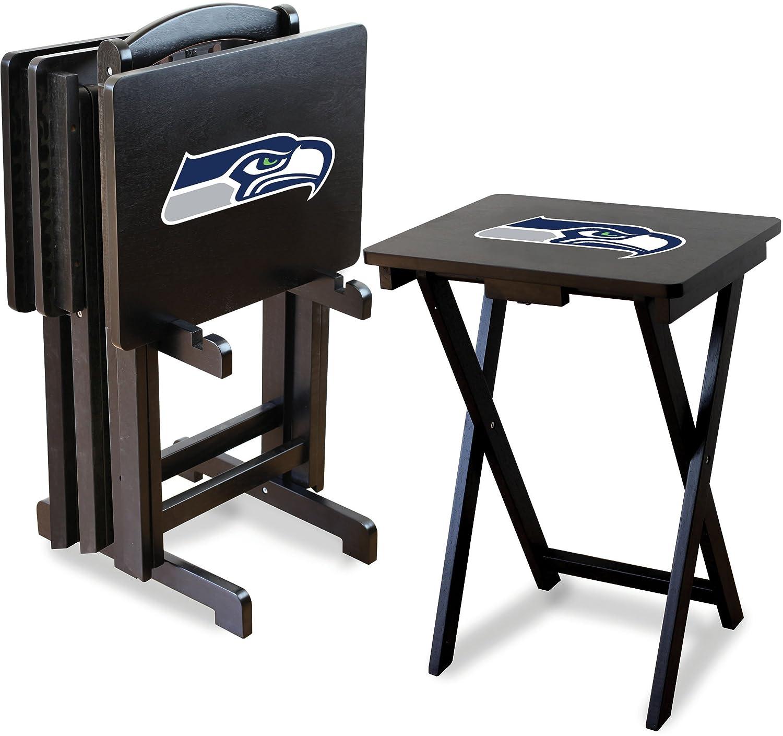 Imperial NFL公式ライセンス商品 折りたたみ木製テレビトレーテーブルセット スタンド付き Seattle Seahawks Seattle Seahawks B0046X1VVO