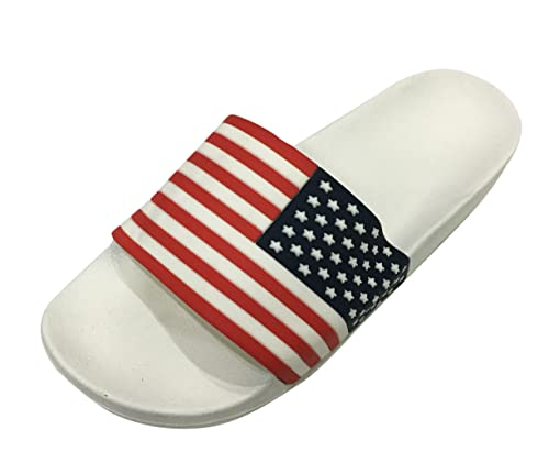 adcf92b82395bd Omen Crocs American Flag Logo Stylish Comfort Slippers   Slide Sandals   House  Slippers - For Men s  Buy Online at Low Prices in India - Amazon.in