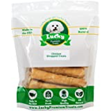 Chicken Wrapped Rawhide Dog Treats, Gluten Free Dog Treats for Medium Dogs, Made in the USA