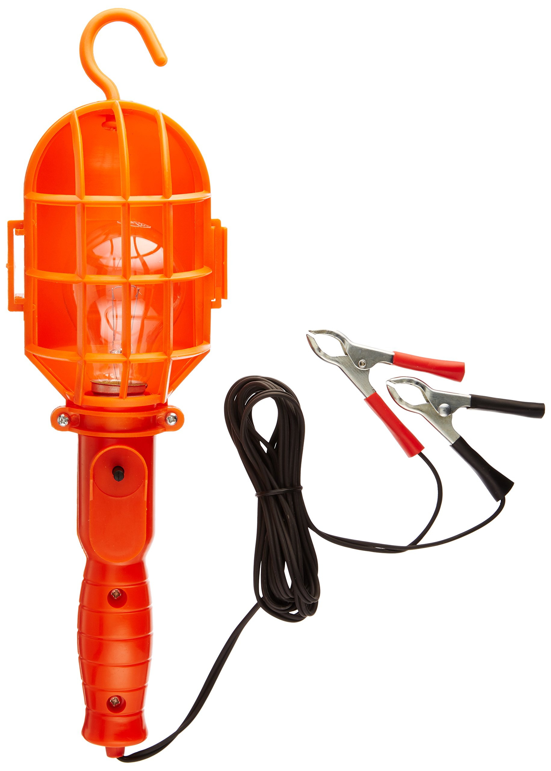 ATE Pro. USA 70067 Trouble Light with Battery Clip and Cigarette Lighter Plug, 16', 12V