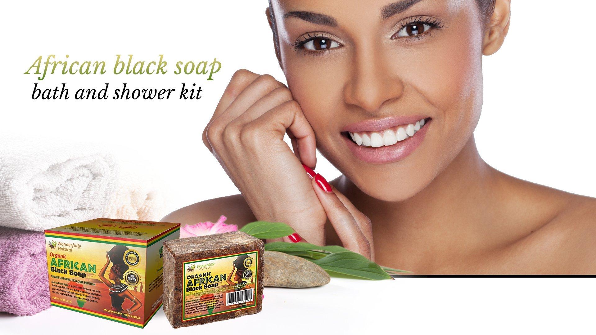 Wonderfully Natural African Black Soap Bar   100% Organic 1lb   Black soap Acne Treatment   Eczema Natural Soap   60 day Satisfaction Guarantee by Wonderfully Natural (Image #7)