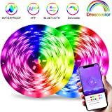 LED Strip Lights Bluetooth, Dream Color LED Strip Light, 32.8ft Bluetooth LED Chasing Light with APP Control Waterproof…