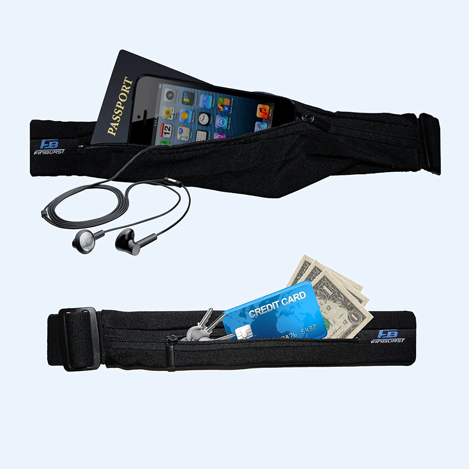 The Best Waist Pack for Athletes Around the World Fits EVERY iPhone /& Cell Phone FinBurst Running Belt