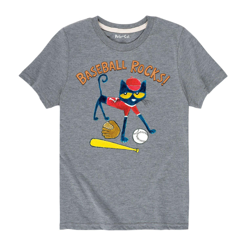 Toddler Short Sleeve Tee Pete the Cat Baseball Rocks!