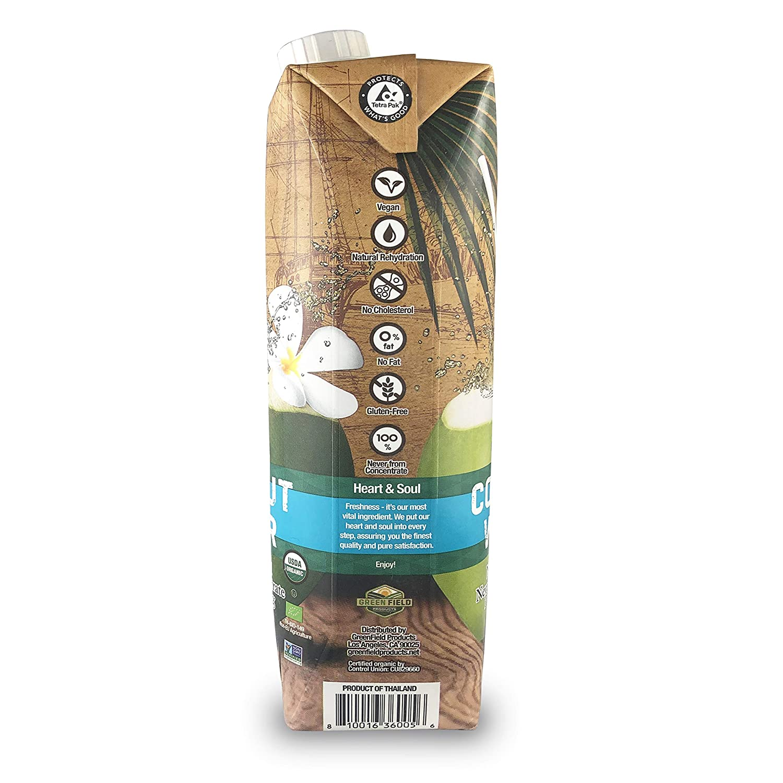 Natures Greatest Foods, agua de coco orgánica, certificado ...