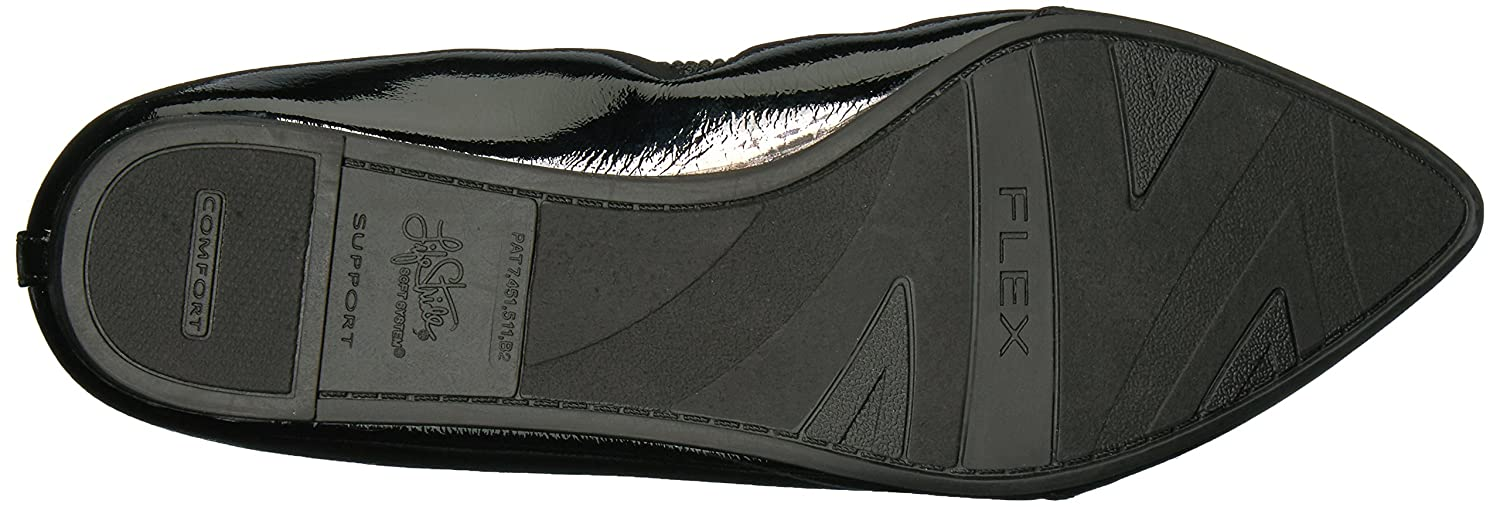 LifeStride Women's Quickstep Pointed Toe Flat B06XQGCCK5 6 B(M) US|Black