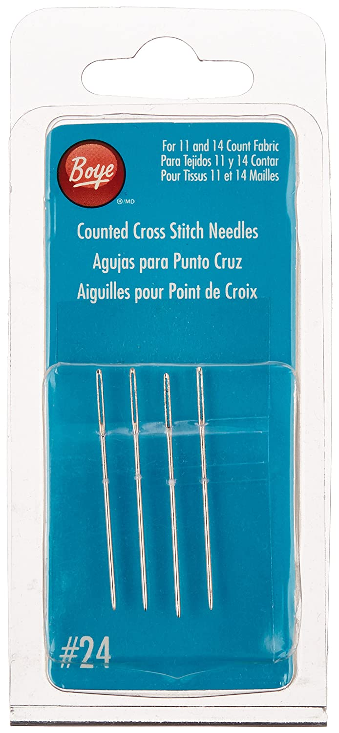 Boye Cross Stitch Hand Needles-Size 24 4/Package 3507503000M