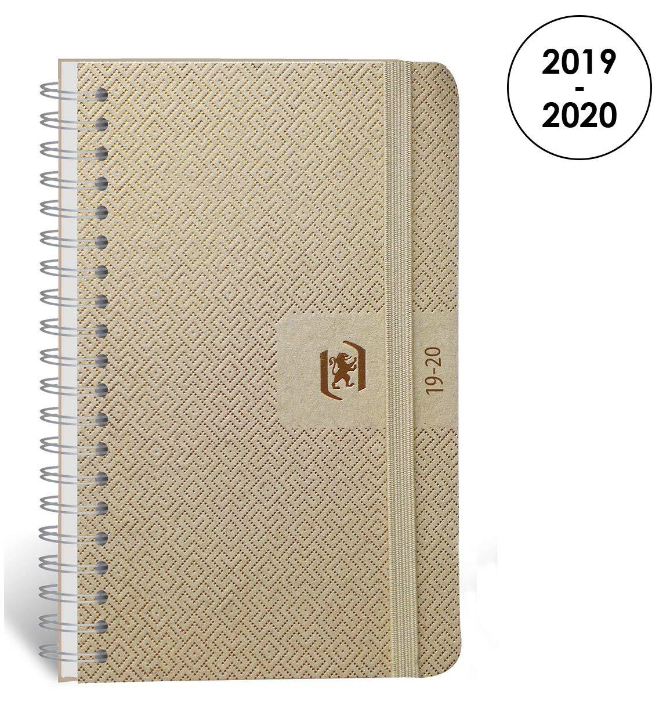 Oxford Nude agenda escolar (años 2017 – 2018 1 día por página 352 páginas 12 x 18 cm) cobre