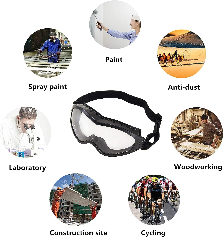 a Prueba de Arena protecci/ón antiqu/ímica. Gafas Protectoras Unisex de Seguridad Sobre Gafas Transparentes antiniebla a Prueba de Polvo Babimax Anti Impactos para conducci/ón al Aire Libre