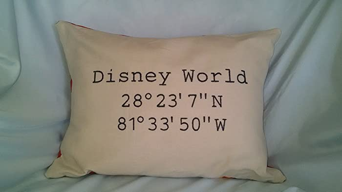 Amazon disney world pillow embroidered latitude longitude disney world pillow embroidered latitude longitude sciox Image collections