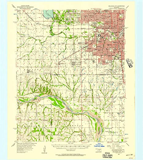Amazon.com : YellowMaps Oklahoma City OK topo map, 1:62500 Scale, 15 ...