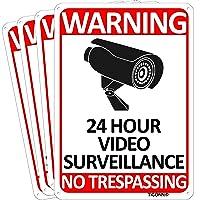Deals on TICONN 4-Pack 24 Hour Video Surveillance Sign