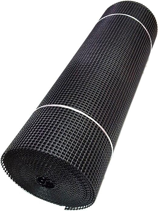 Super fuerza cortavientos negro bisagras valla de jardín de plástico cuadrado de malla 1 m x 25 m por True Products: Amazon.es: Jardín