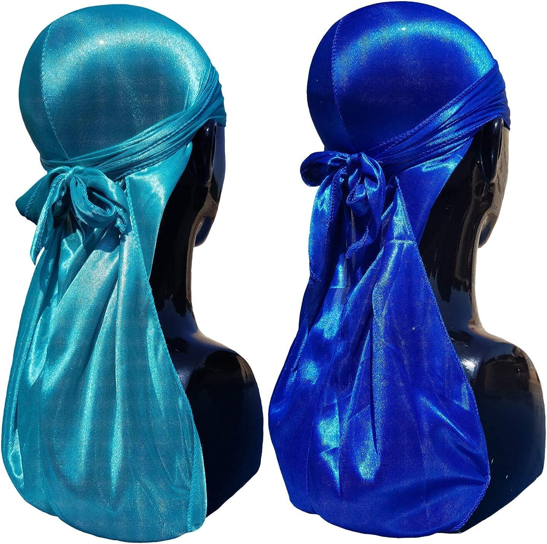 peso ligero y muy transpirable Durag para mantener las olas y el ma/íz frescas Lujoso Durags de seda para hombres y mujeres