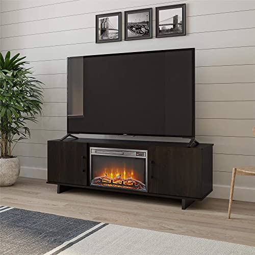 Ameriwood Home Southlander Fireplace 60 , Espresso TV Stand,