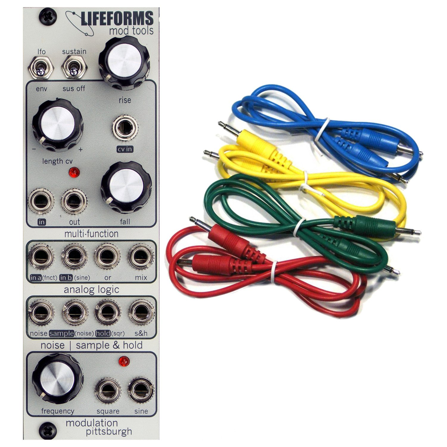 Pittsburgh Modular Lifeforms Mod Tools Modulation Source Eurorack Synth Module w/ 4 Cables