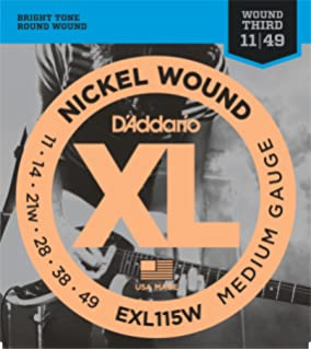 DAddario EXL115Wx5 (5 sets) Electric Guitar Strings, 3rd String Wound,