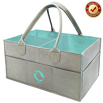 Amazon.com : Baby Diaper Caddy Organizer - Nursery Storage Bin for ...