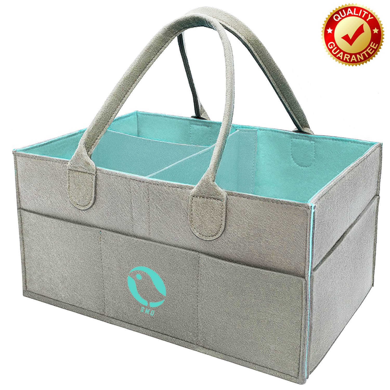 Baby Diaper Caddy Organizer - Nursery Storage Bin for Diapers,Baby Wipes, Kid Toys Bag  Large Portable Car Travel Organizer   Baby Shower Gift Basket