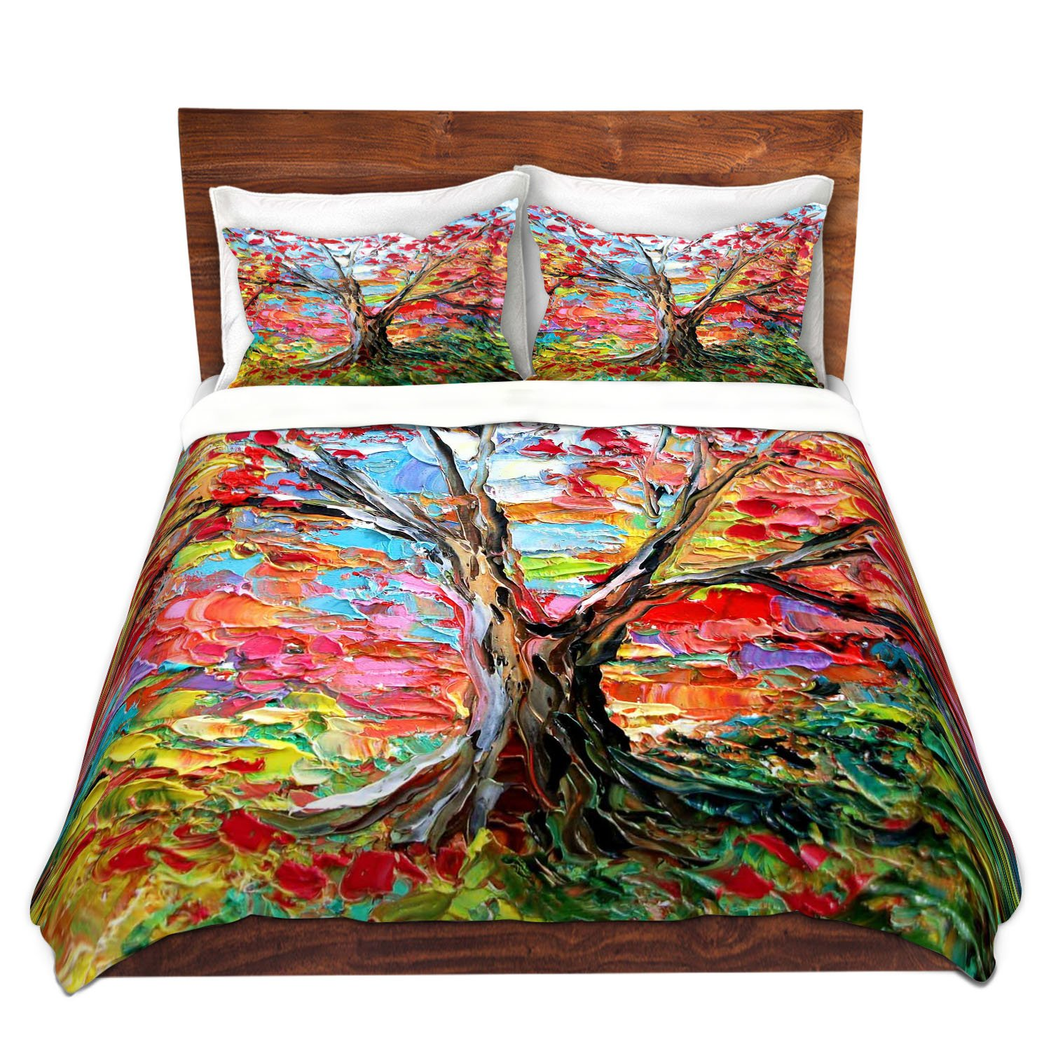 DiaNoche Designs Ann Soura Unique Home Decor Bedding Ideas Story of the Tree 59 Cover, 7 Queen Duvet Sham Set