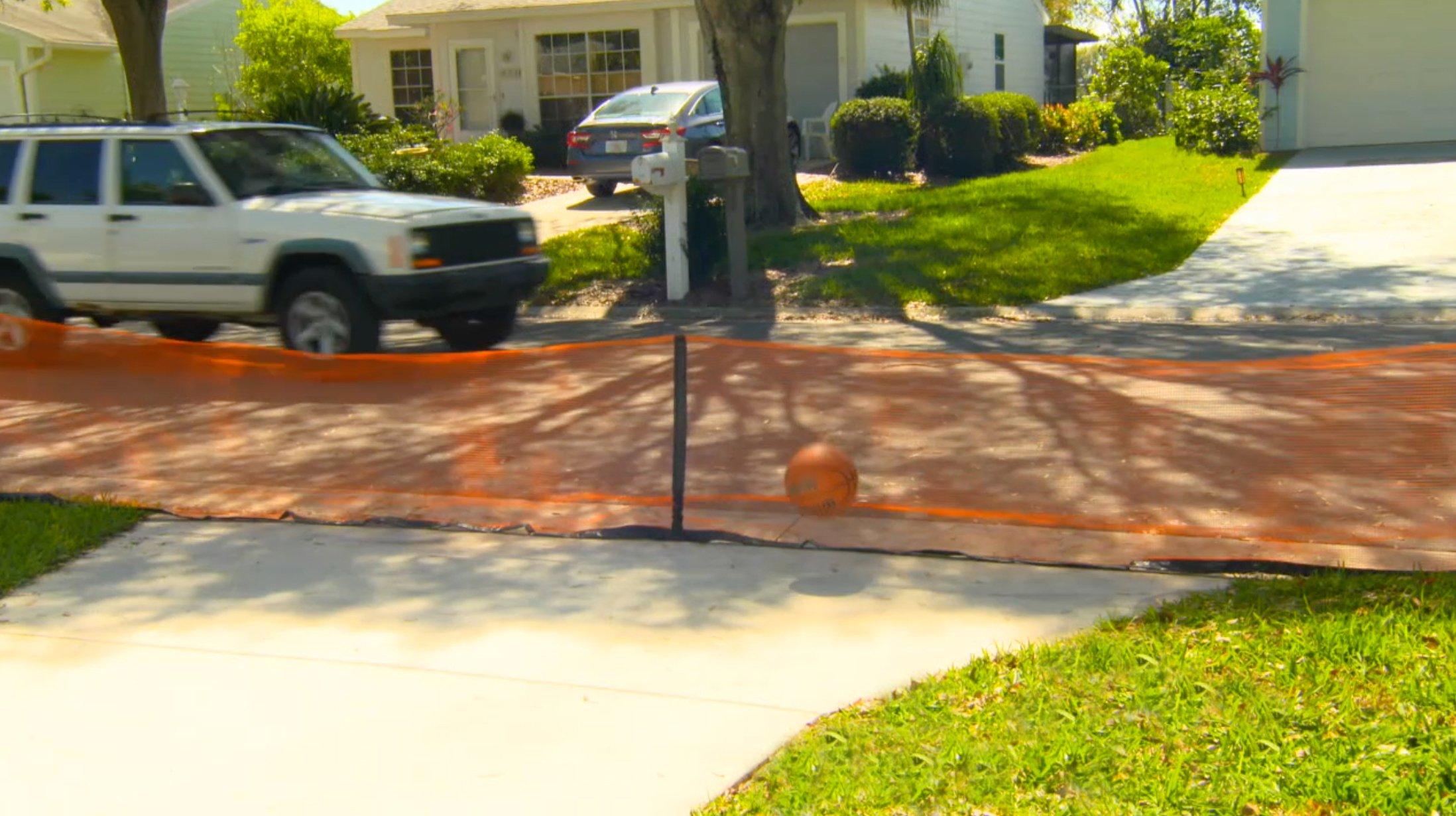 Play It Safe RPDN26 Driveway Net, Large, Orange by Play It Safe (Image #2)