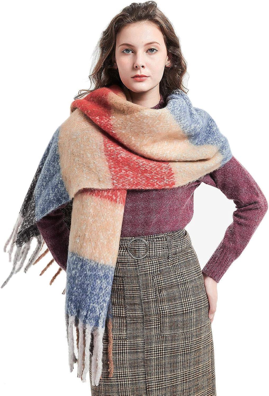 Winter Blanket Scarf Warm Soft Feel Classic Shawls and Wraps Cozy Fall Scarfs for Women Men