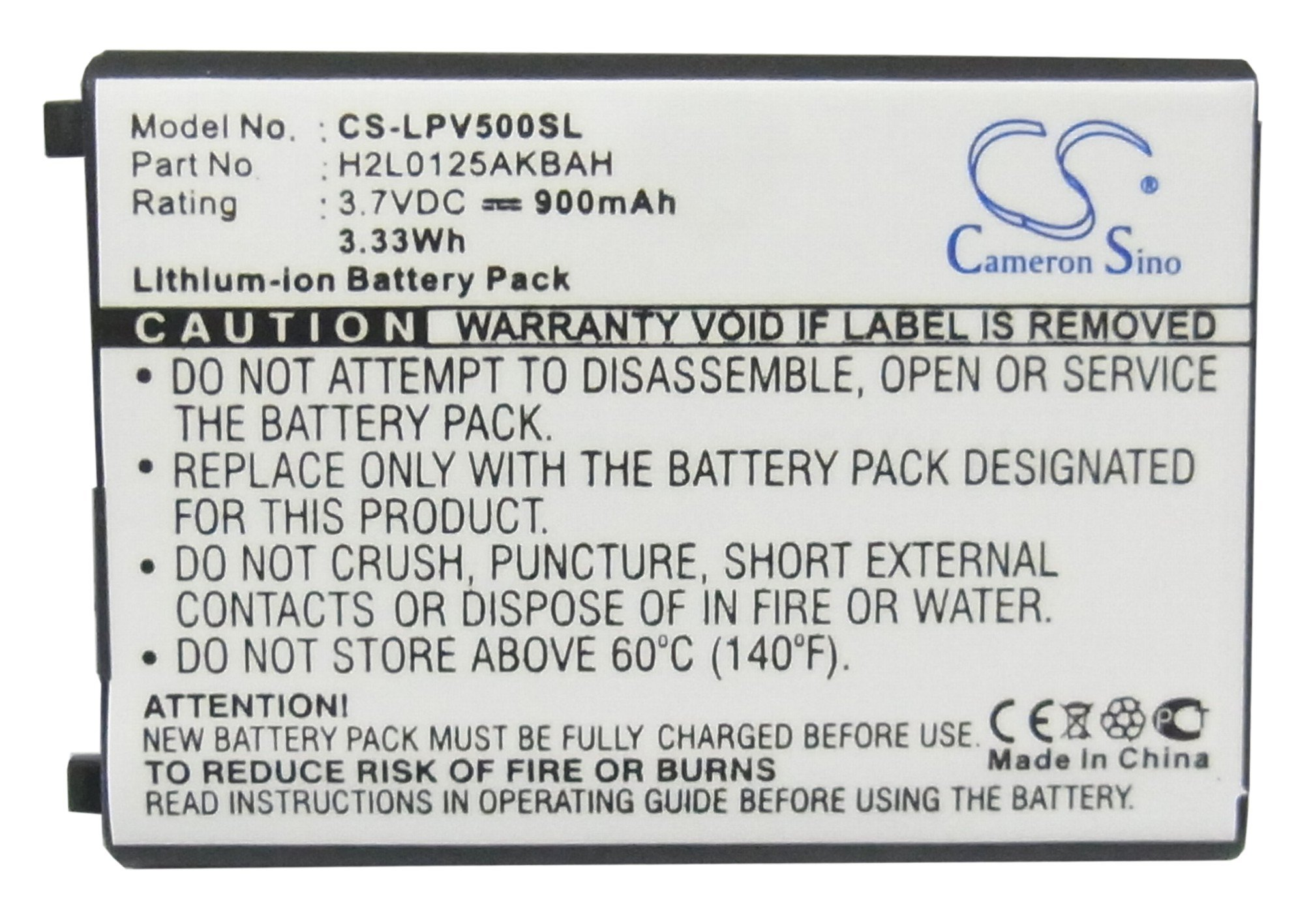 Battery for Lawmate PV-500 DVR Recorder by Capcom (Image #5)