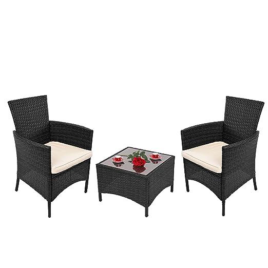 Conjunto de jardín Asiento Grupo ROMV, polirratán, mesa ...