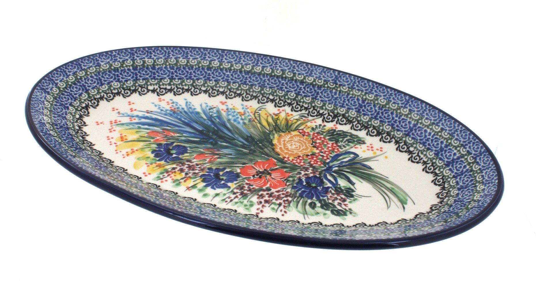 Polish Pottery Summer Blooms Oval Platter