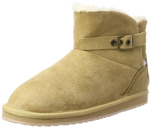 Pepe Jeans London Girls' Angel Buckle Boots, Beige (Camel), 1.5 UK