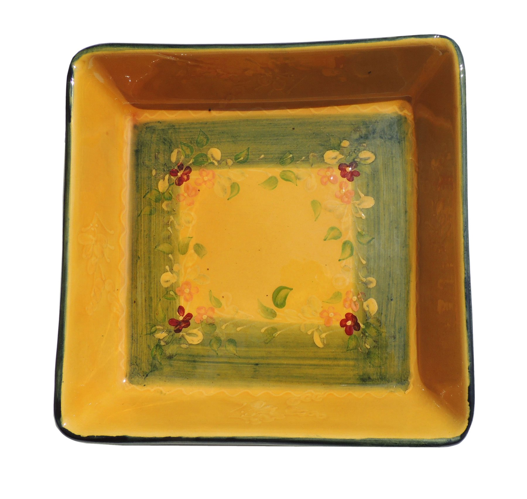 Souleo Provence Terre e Provence Pottery - Square Gratin Dish