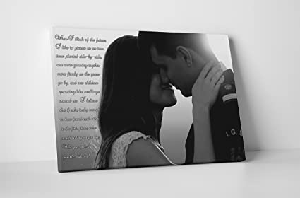 AJ Canvas Prints Anniversary Gift For Boyfriend One Year Dating Valentine Ideas
