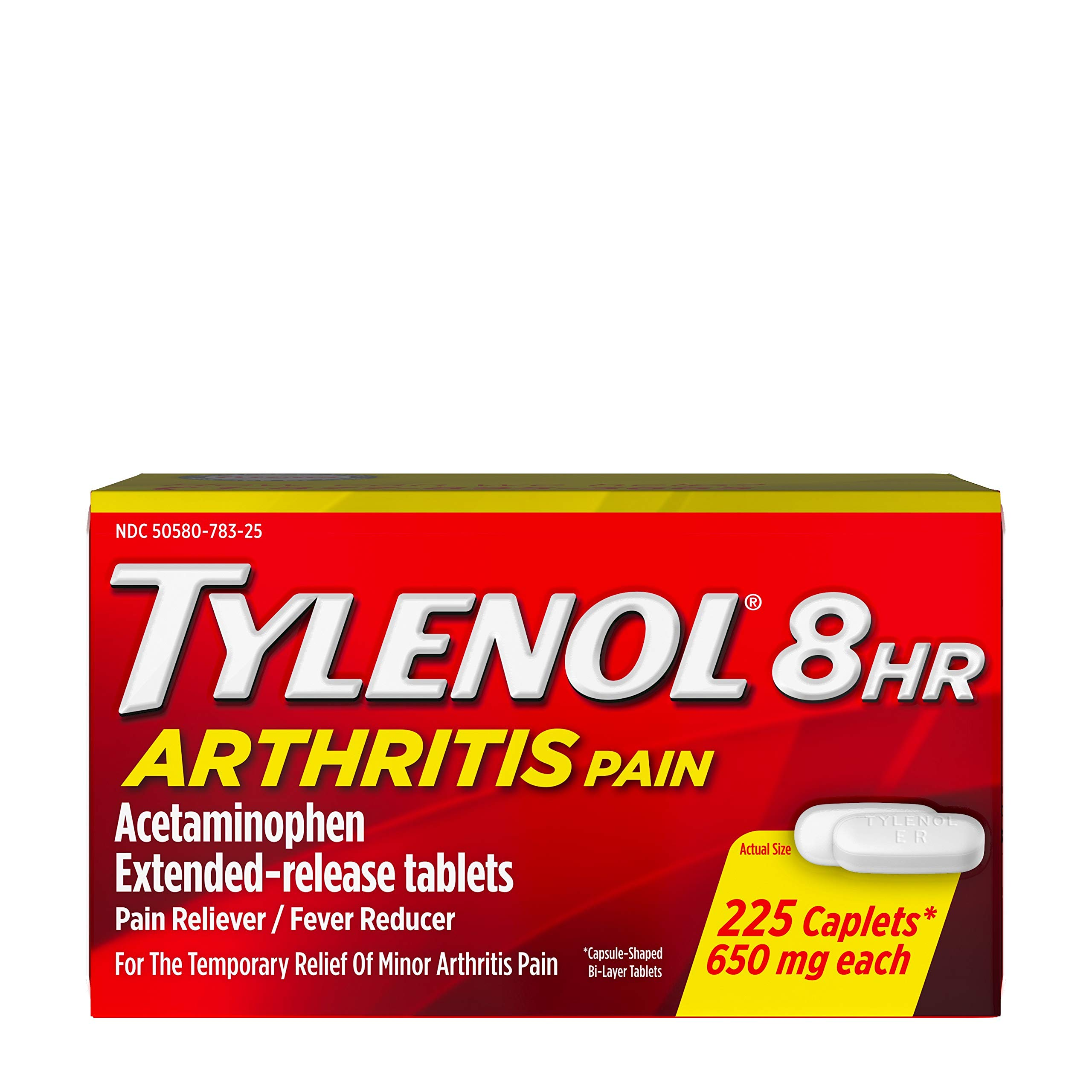 Tylenol 8 HR Arthritis Pain Extended Release Caplets, Pain Reliever, 650 Mg, 225 Ct. by Tylenol